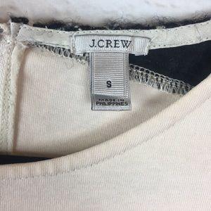J. Crew Tops - J. Crew Cream Black Cotton Wool Silk Zip Top Small